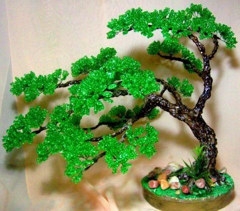 Плетение из бисера деревья мастер класс