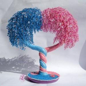 Дерево любви из бисера